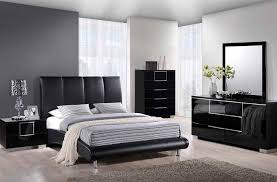 modern bedroom black and red. Glossy Bedroom Set Upholstered Bed In Black Red Orr Grey Modern And S
