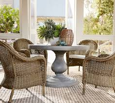 large basics round patio table and