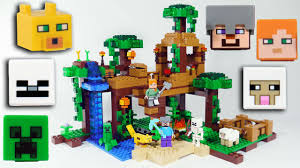 Lego Full House Lego Minecraft The Jungle Tree House Lego Review Speed Build