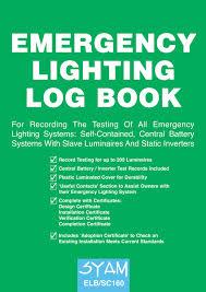 Emergency Lighting Test Sheet Fire Alarm Log Book Amazon Co Uk Syam Books