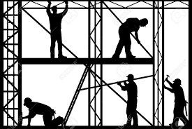 scaffold builder clipart silhouette clipartfest construction workers