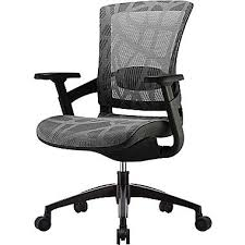 ergonomic mesh office desk chair with adjustable arms. skate ergonomic mesh chair; adjustable arms, silver gray office desk chair with arms