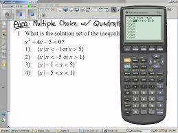11 09 2010 algebra 2 solving quadratic inequalities using the calculator