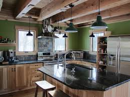 Green Porcelain Barn Light Porcelain Enamel Lighting Gives New Green Home A Rustic Look
