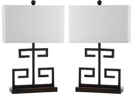 s 2 greek key table lamps black table lamps indoor and outdoor