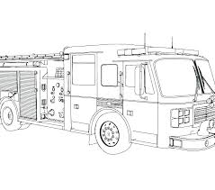 Fire Truck Coloring Page Printable Fire Truck Coloring Pages