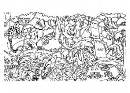 Small Picture Jungle Forest Coloring pages for adults JustColor