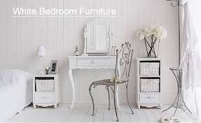 The White Lighthouse Range Of White Bedroom Furniutre Including White  Dressing Tables, Bedside Tables And