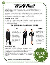 professional dress is the key to success college tip sheets professional dress is the key to success