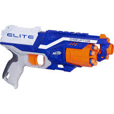 Light Blue Nerf Guns Nerf N Strike Elite Disruptor Blaster With 6 Nerf Elite