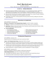 Civil Engineering Resume Examples Resume Work Template