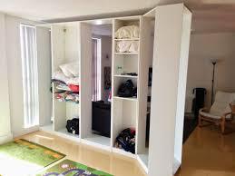 ikea closet as room divider