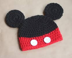 Crochet Mickey Mouse Hat Pattern