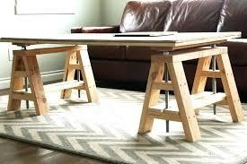 sawhorse table legs chrome kitchen sawhorse table legs