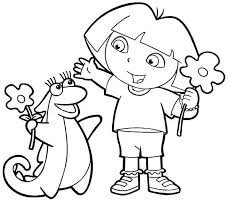 Small Picture 166 best dora coloring pages images on Pinterest Pre school