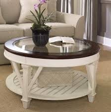 white round wood coffee table