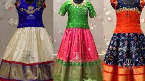 Full Blouse Designs For Children S Kids Pattu Langa Maggam Work Blouse Designs Fashion Flavour