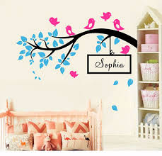 15 name wall art diy birds on tree branch vinyl wall decal wall art decorative stickers