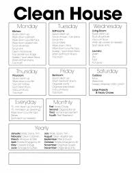 Free Cleaning Chart Printable To Help With Your Cleaning