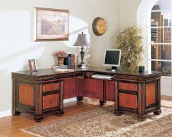 l shaped desk for two.  For Chomedey Traditional 2 Tone LShaped Desk In L Shaped For Two S