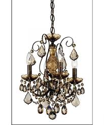 magnificent mini bronze crystal chandelier 4 oil rubbed hampton bay