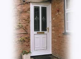 white double front door. White Double Glazed Door Front