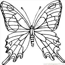 Printable Butterfly Template Cut Out Butterfly Coloring Pages ...