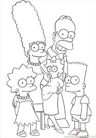 The Simpsons Coloring Pages Only Coloring Pages Pinterest