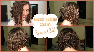 Long Curly Bob Hairstyles My New Hair Cut Inverted Curly Bob Youtube