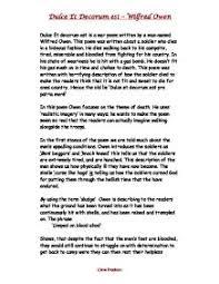 dulce et decorum est review gcse english marked by teachers com page 1 zoom in