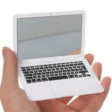 Cute Makeup Mini Pocket Laptop Mirror Computer Glass ... - Vova