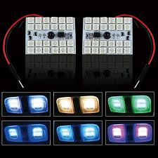 Rgb Led Panel Light Details About A1 2x Rgb Multi Color Led Panel Light 24 Smd 5050 Interior Accent Bulbs W Remote