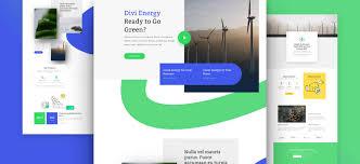 Green Layouts Green Energy Layout Wordpress Website Design