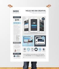 Design Flyer App Design Services Flyer Poster Template Web App Graphic On