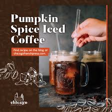 For each of 4 servings, pour in 1/2 cup coffee, 1 teaspoon maple syrup, and 2 tablespoons milk or almond milk (or double to make 2 large servings). Recipe Pumpkin Spice Iced Coffee Chicago French Press