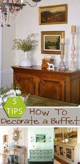 Great simple instructions for how to decorate a buffet. Dining Room ...
