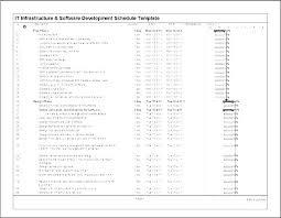 Professional Schedule Template Development Schedule Template