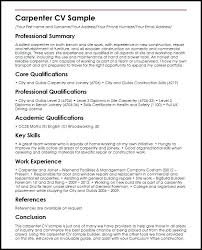 How To Build A Basic Resume Carpenter Sample Build A Basic Resume