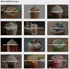 starbucks coffee menu.  Menu Starbucks Coffee Menu Intended T