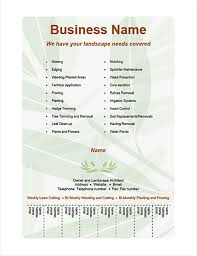 Business Flyer Template With Number Tabs Tear Off Tabs Word Template