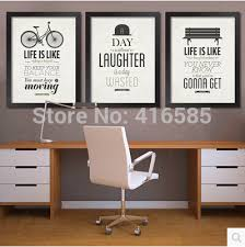 inspirational artwork for office. Framed Office Wall Art Inspirational Modern Decoration Calligraphy From Home And Garden Laughter Wasted Artwork For P