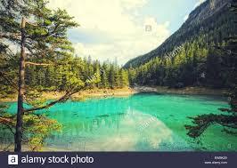 Lago Verde in Stiria tragoess austria Foto stock - Alamy