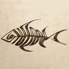 bone fish metal wall art on fish swirl metal wall art with wrought iron metal wall decor