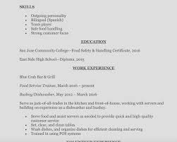 Busboy Job Description Resume Example Resume Fast Foodervice Worker Responsibilities Assistant 52