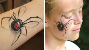 3d realistic spider arm and face painting makeup tutorial for