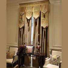 Modern Style Brown Cotton Jacquard Floral Bedroom Curtains (without Valance)
