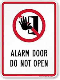 alarm door do not open do not open door symbol sign 18