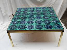Coffee table with tiles