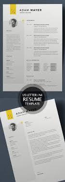 50 Best Minimal Resume Templates 3 Graphic Design Pinterest