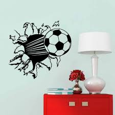 wall decal family art bedroom decor  soccer ball football vinyl wall sticker decal kids room decor sport boy art bedroom pvc removable